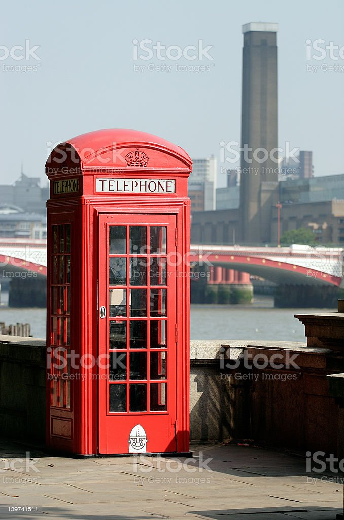 Iconic Phone Booth, London stock photo