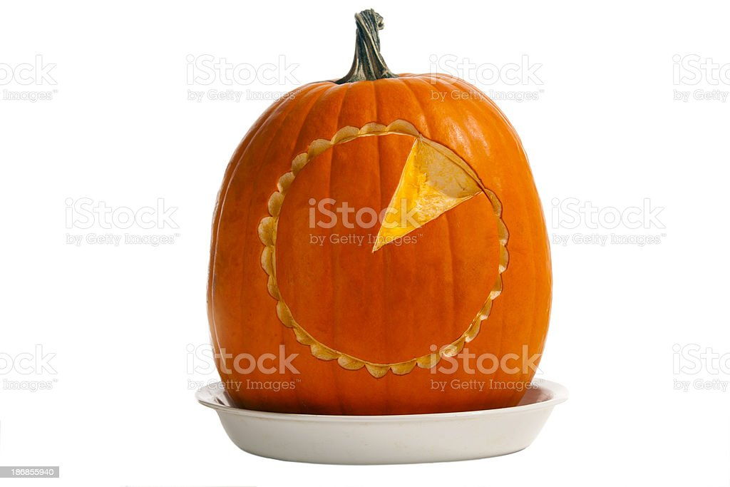 Iconic Pumpkin Pie royalty-free stock photo