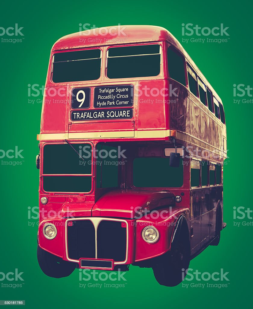 Iconic Red London Bus stock photo