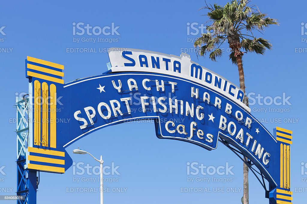 Iconic Sign - Santa Monica stock photo