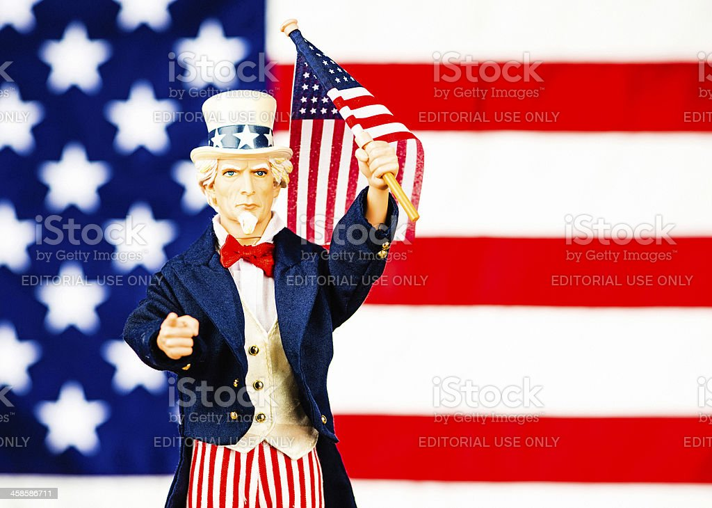 Iconic Uncle Sam: I Want You! royalty-free stock photo