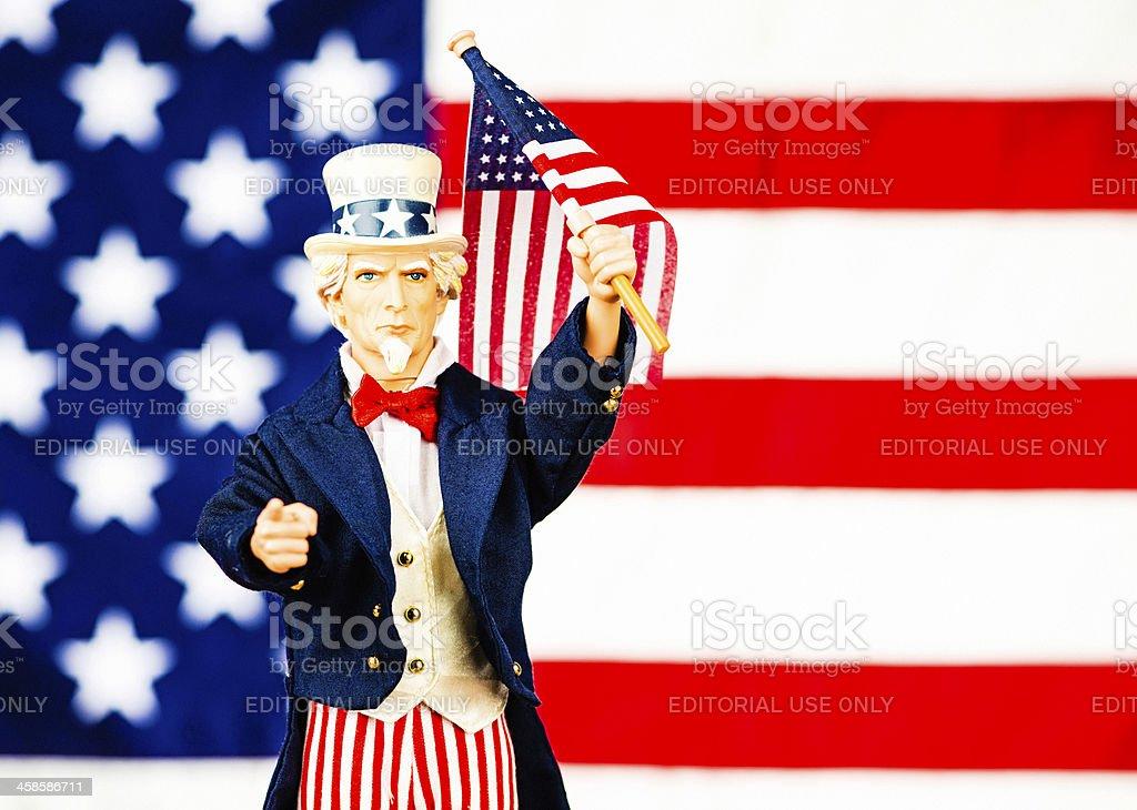 Iconic Uncle Sam: I Want You! stock photo