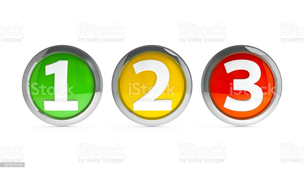 Icons numbers 1 2 3 #2 stock photo
