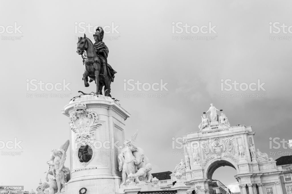 Icons of Lisbon (Portugal) stock photo