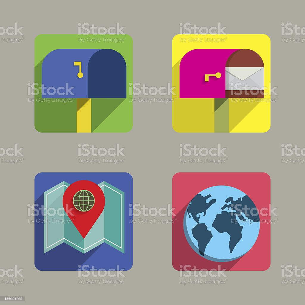 Icons set Colorful Style royalty-free stock photo