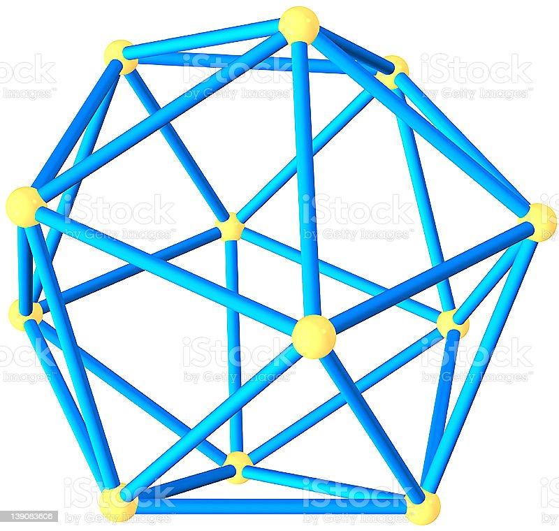 Icosahedron royalty-free stock photo