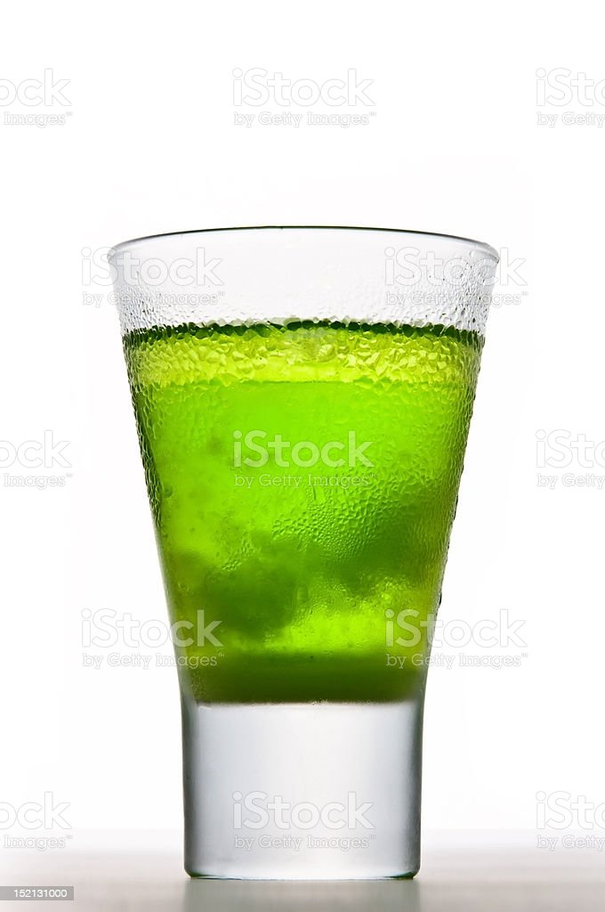 Icy Absinthe drink stock photo
