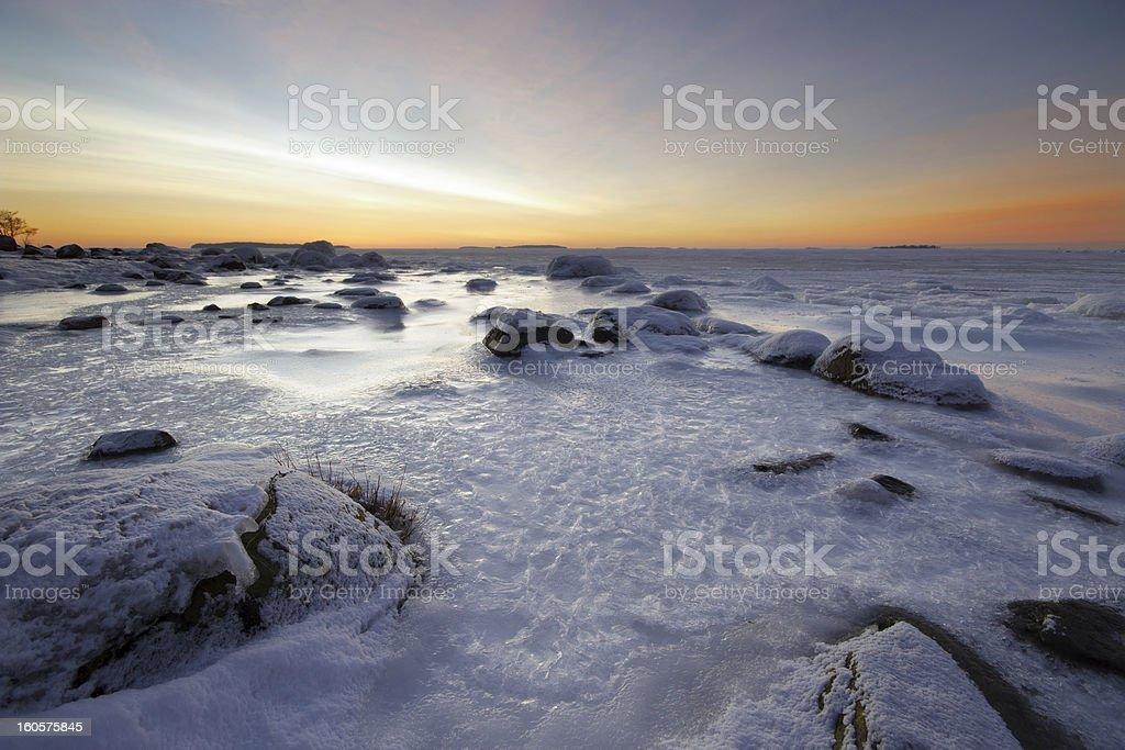 Icy beach royalty-free stock photo