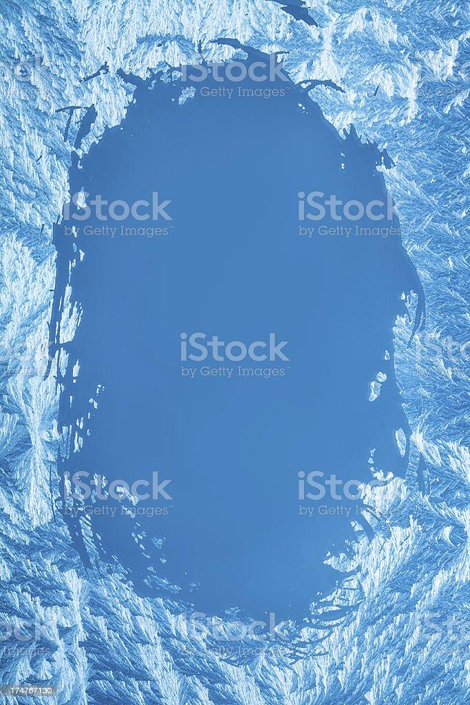 Icy blue background stock photo