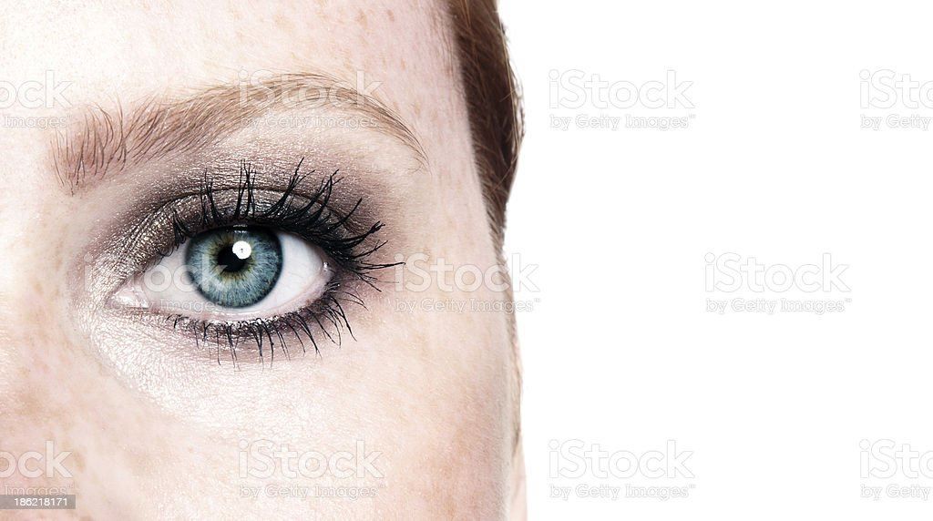 icy blue eye royalty-free stock photo