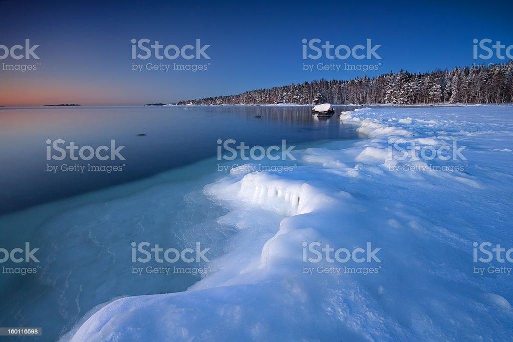 Icy coast in Helsnki royalty-free stock photo