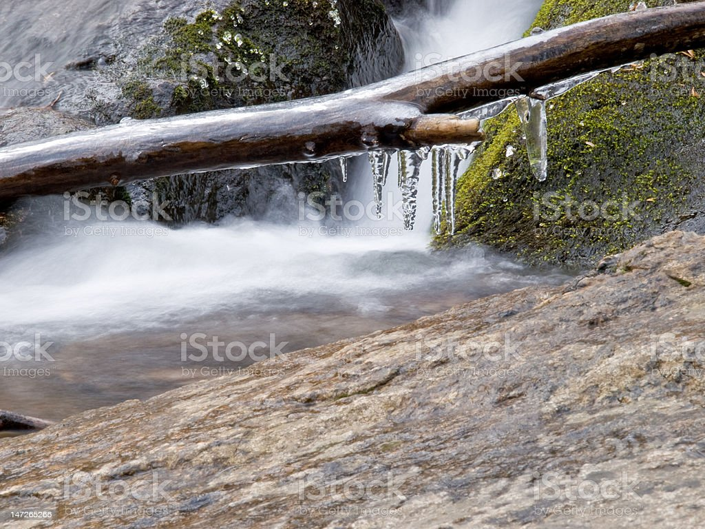 Icy Cold Brook stock photo