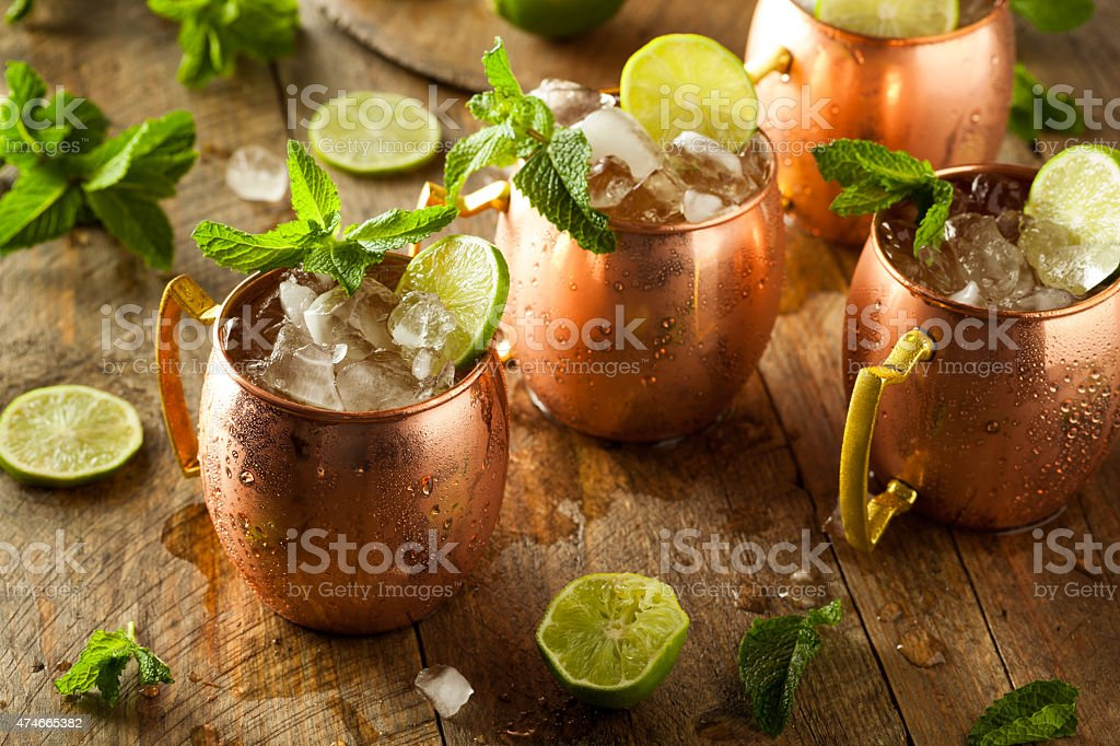 Icy Cold Moscow Mules stock photo