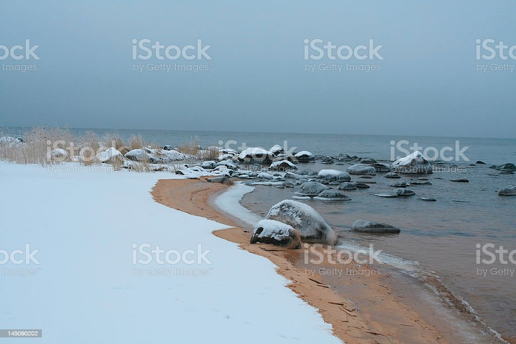 Icy costline royalty-free stock photo