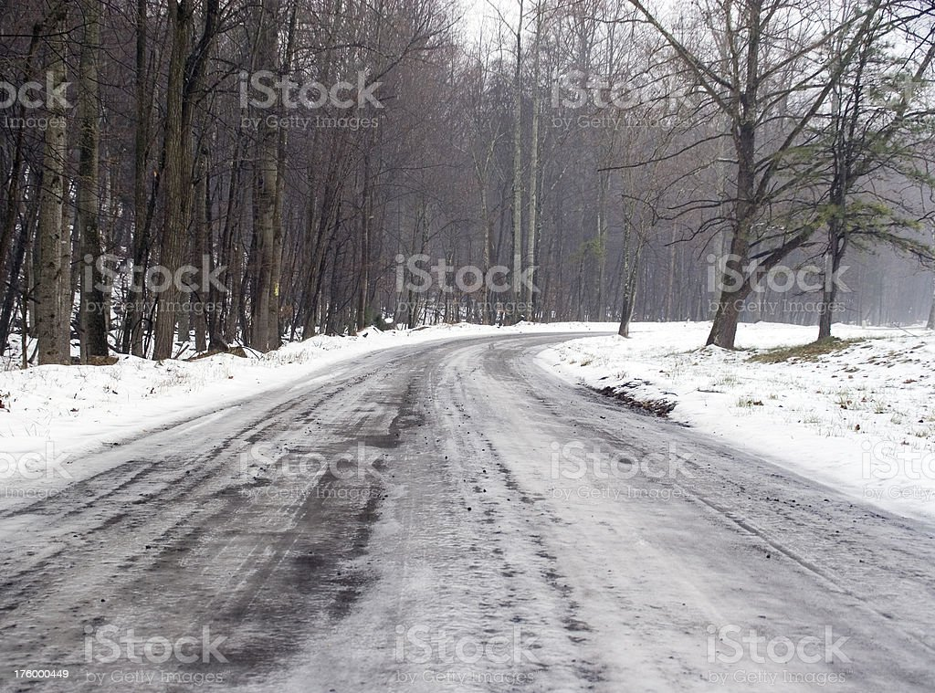 Icy Country Road royalty-free stock photo