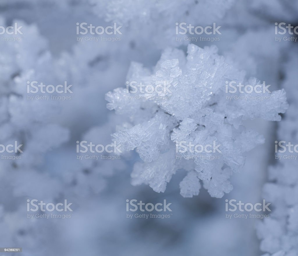 icy crystals stock photo