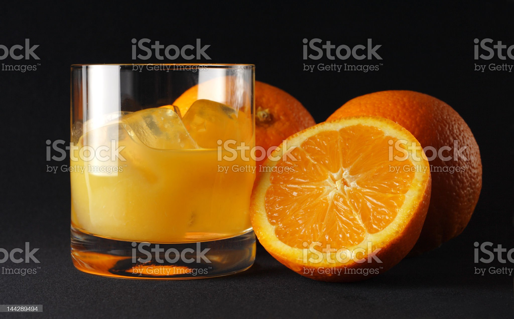 Icy fresh orange royalty-free stock photo