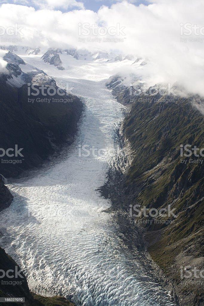 Icy glacier stock photo