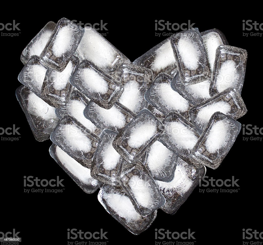 Icy heart stock photo