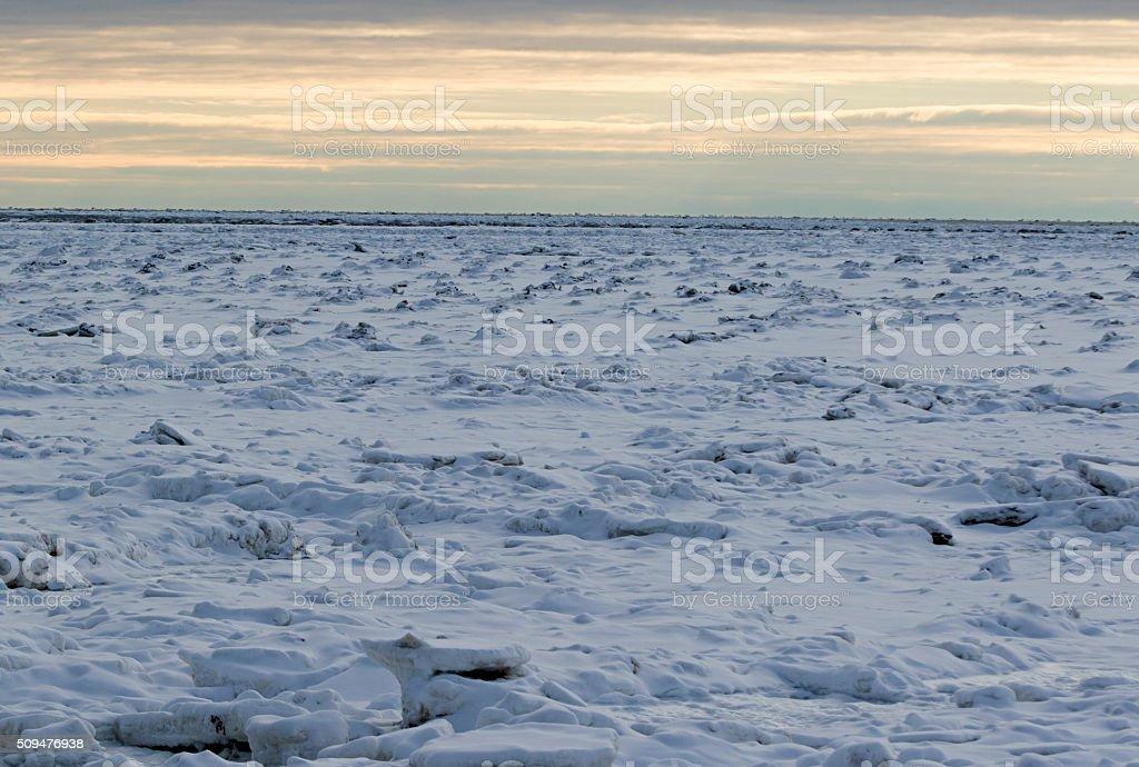 Icy Hudson Bay stock photo