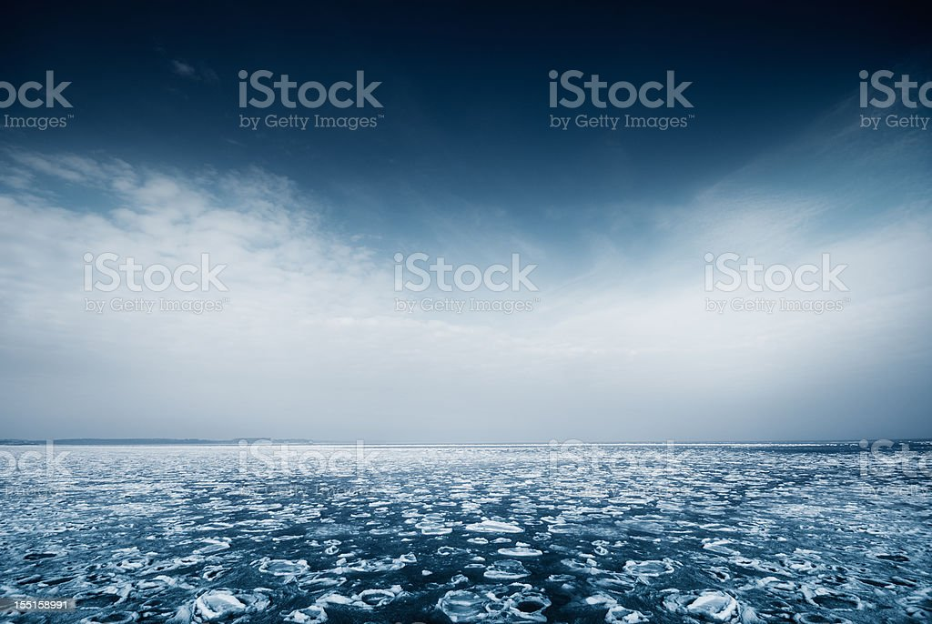 Icy landscape stock photo