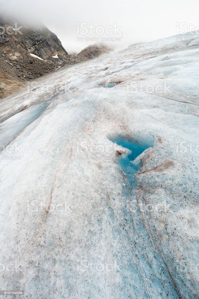 Icy landscape stock photo