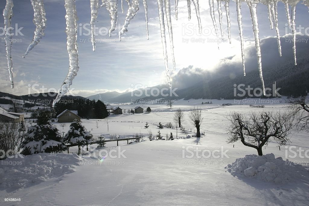 icy landscape royalty-free stock photo
