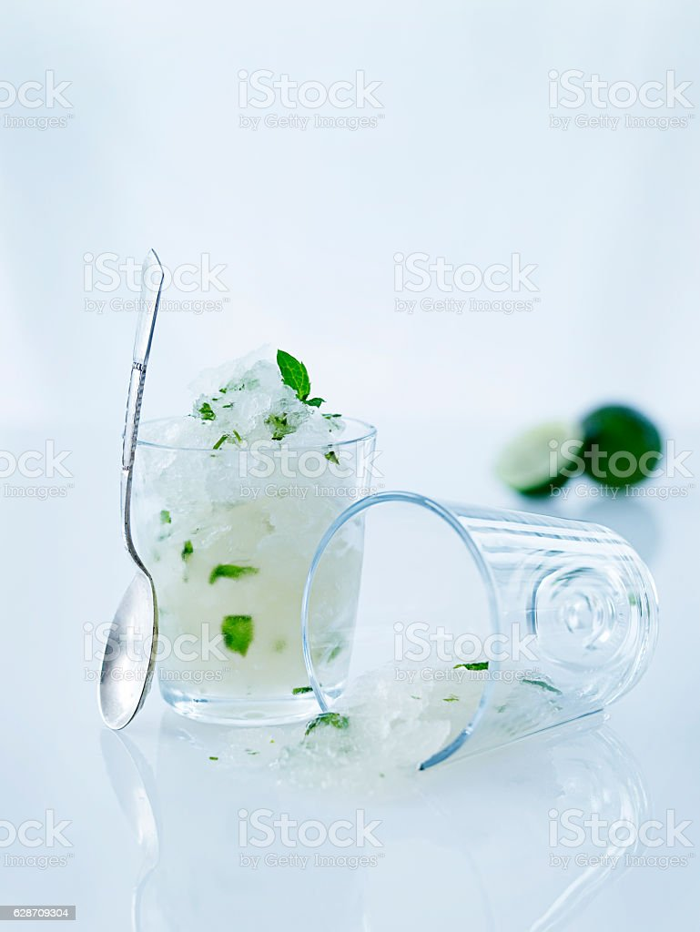 Icy lime desert stock photo