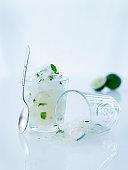 Icy lime desert