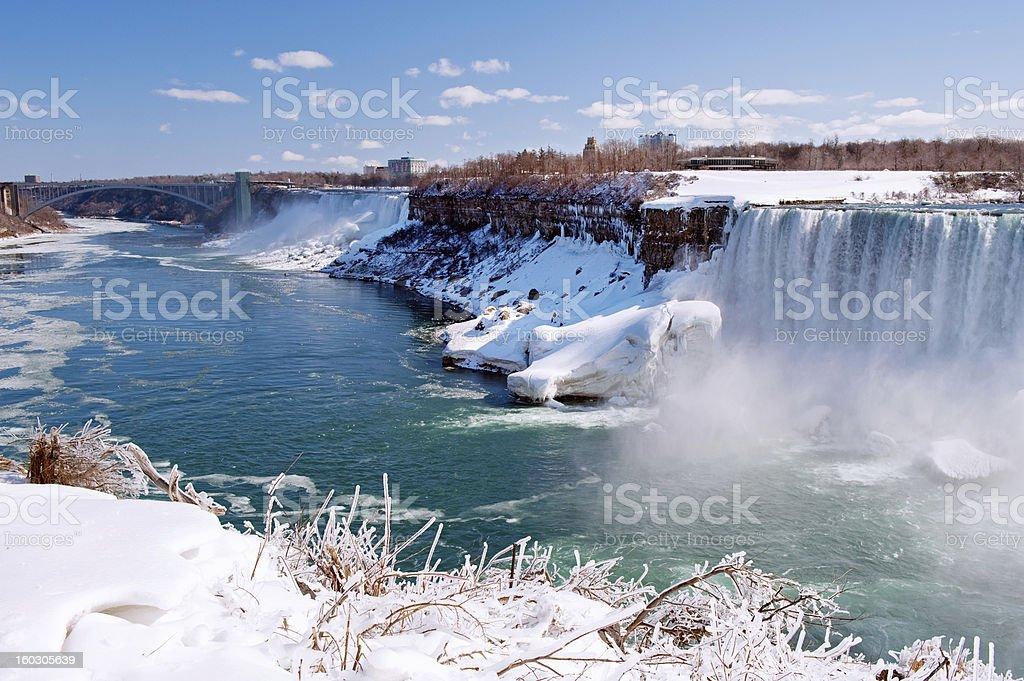Icy Niagara Falls royalty-free stock photo