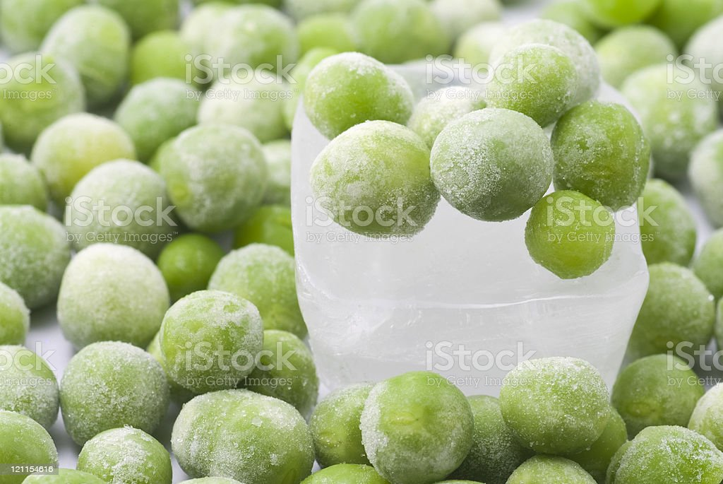 Icy Peas royalty-free stock photo
