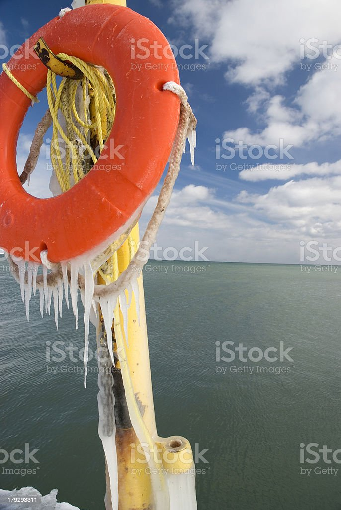Icy Pier stock photo