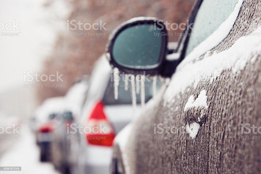 Icy rain stock photo