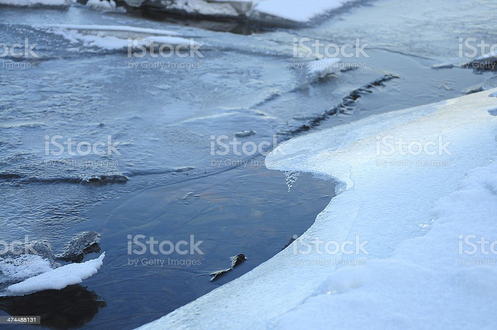 Icy river royalty-free stock photo