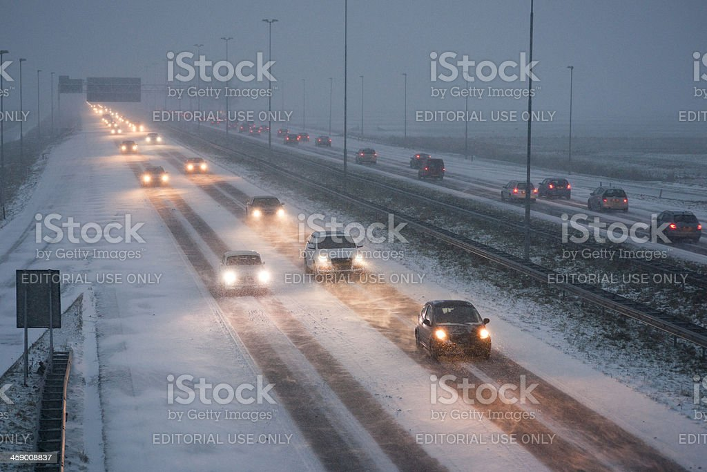 Icy Road royalty-free stock photo