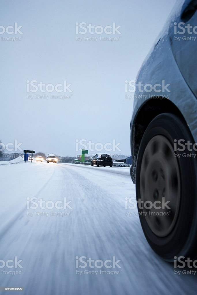 Icy Roads royalty-free stock photo