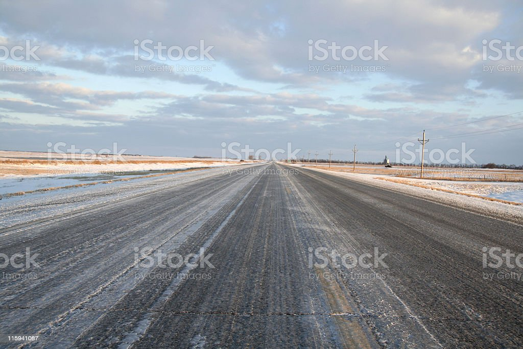 Icy Roadway royalty-free stock photo
