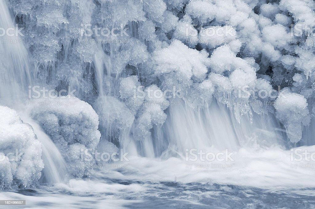 icy waterfall royalty-free stock photo