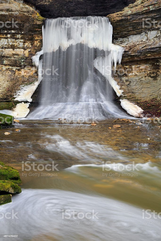 Icy Waterfall stock photo