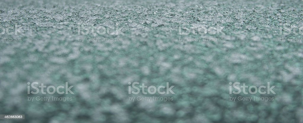Icy windshield stock photo