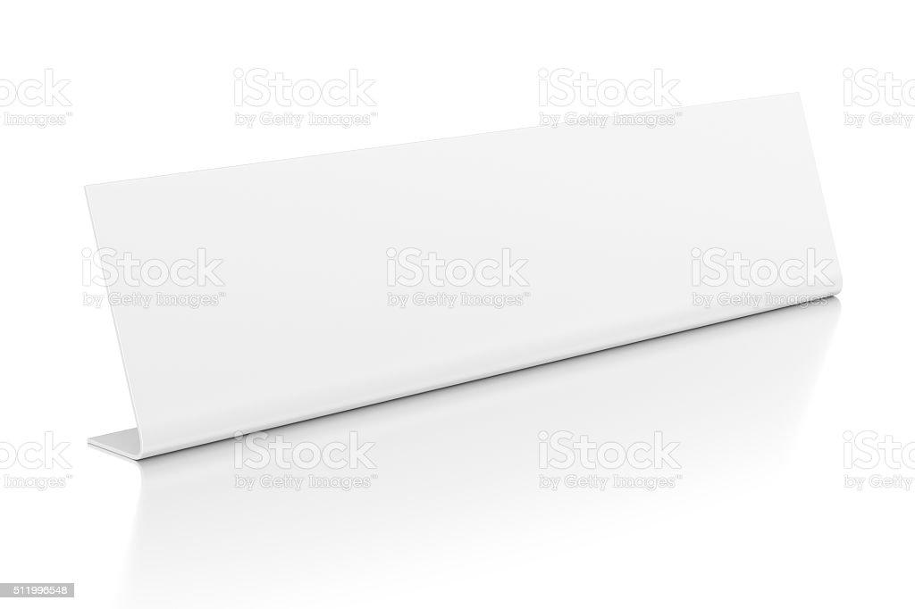 Id nameplate isolated on white stock photo
