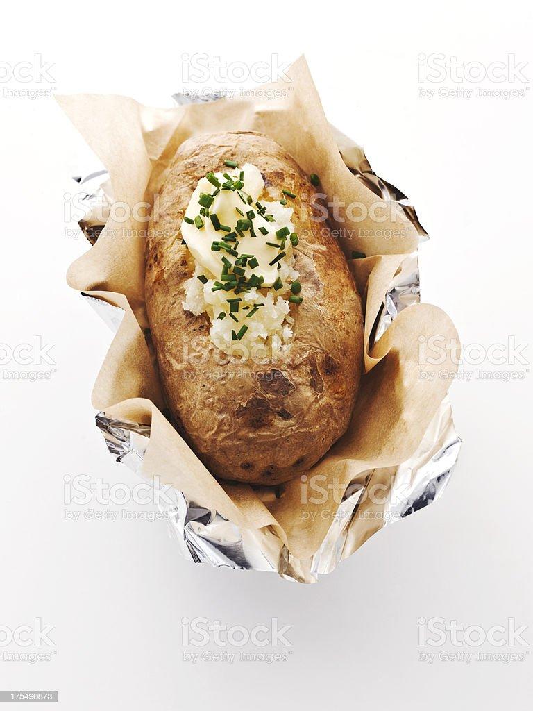 idaho baked potato. a classic. stock photo