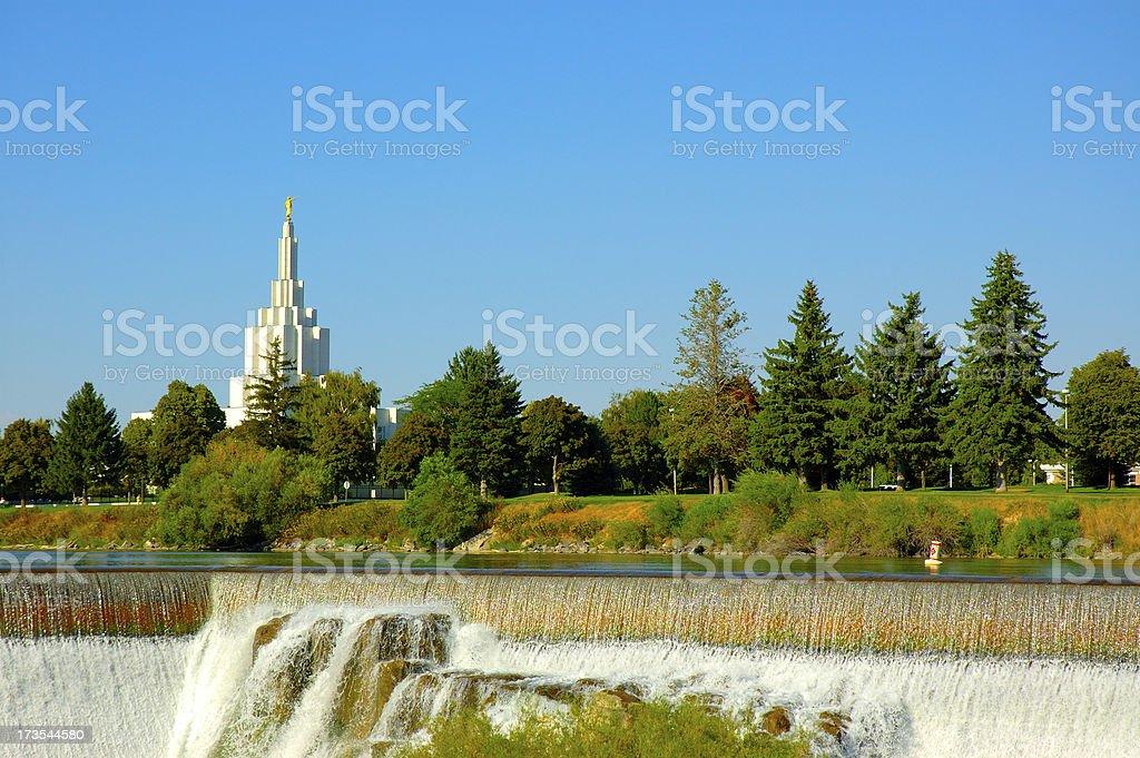Idaho Falls city landmark royalty-free stock photo