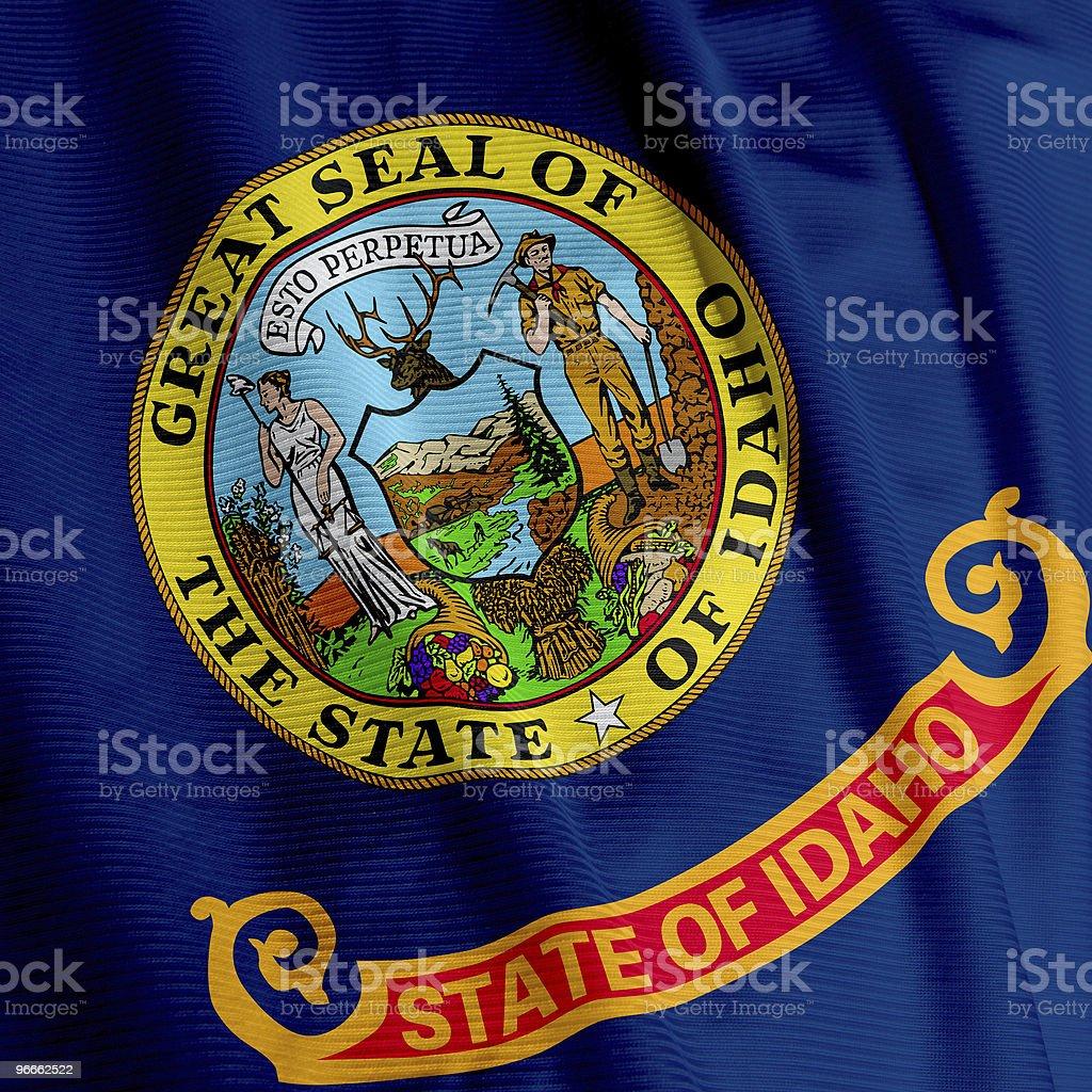 Idaho Flag Closeup royalty-free stock photo