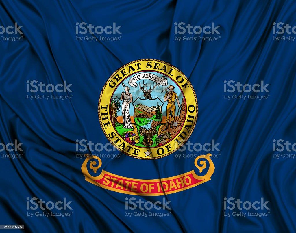 Idaho flag stock photo