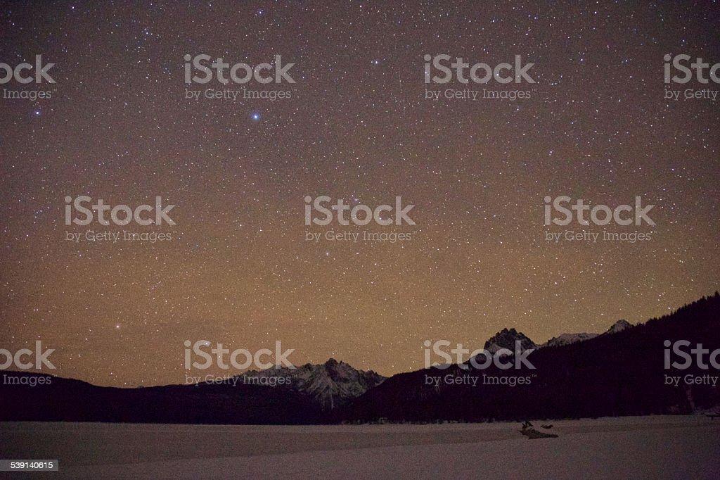 Idaho night sky stock photo