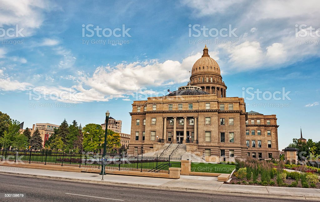 Idaho State Capital with Clouds stock photo