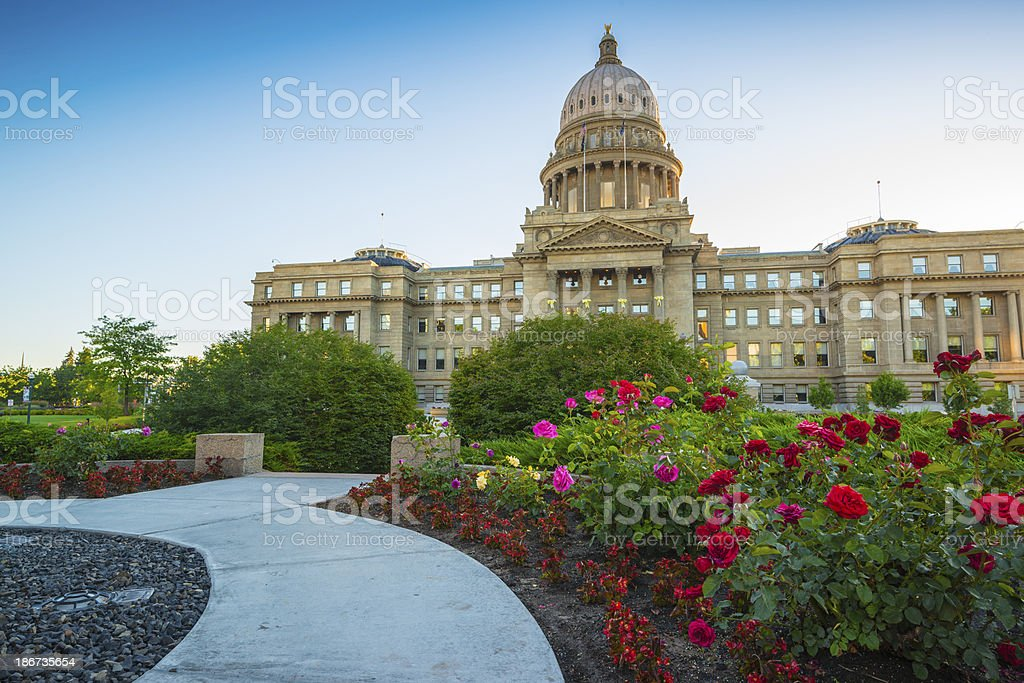 Idaho state Capitol, Boise royalty-free stock photo