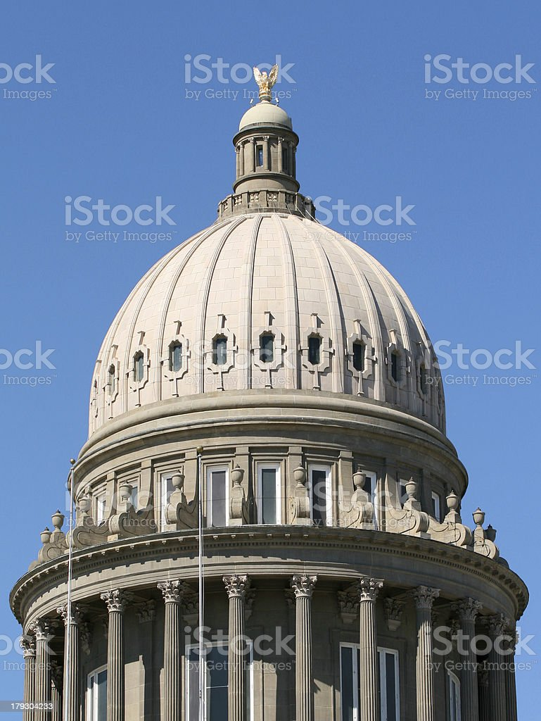 Idaho State Capitol Dome stock photo
