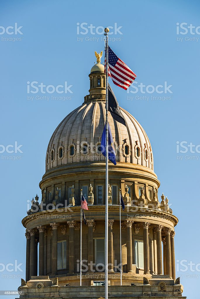 Idaho State Capitol in Boise stock photo
